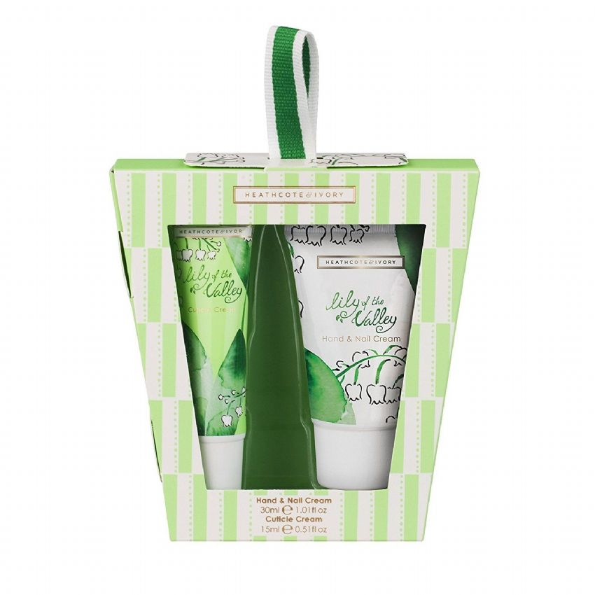 Lily of the Valley Travel Mini Hand Care Gift Set (Cuticle & Hand Nail Cream) Heathcote & Ivory